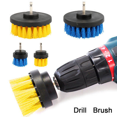 4Pz Tile Grout Power Scrubber Pulizia Drill Brush Tub Cleaner Combo 2 '' / 4 ''