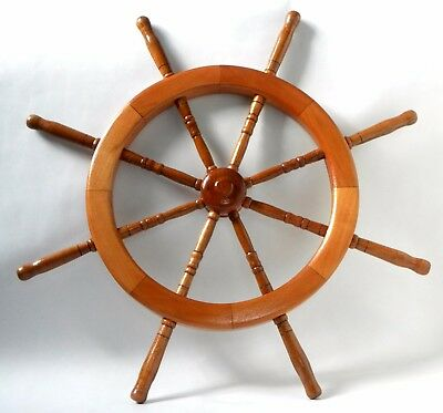 Wheel Steering Ship Nautical Wooden Decor Wall Pirate Wood Captain Vintage Ships