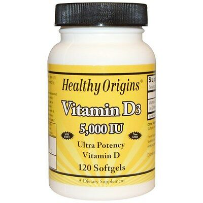 Healthy Origins, Vitamin D3, 5,000 IU, 120 Softgels