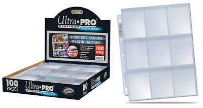 Ultra-Pro 9 Pocket Pages Platinum Series - 10 LOOSE SHEETS OF 9 POCKETS