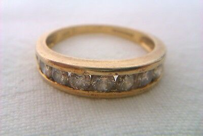 Beautiful Vintage 18ct Gold & 1.00ct Of Diamonds Ladies Half Eternity Ring 1998