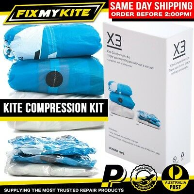 Kite Compression Travel Bag - Set Of 3 Works With Kiteboard Hand Pump X3 Vacuum