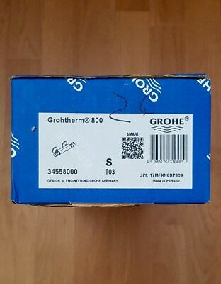 Grohe Grohtherm 800 Thermostat-Brausebatterie, DN 15 34558000 /1