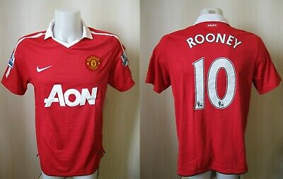 59d508fb0ac Manchester United  10 Rooney 2010 2011 Home Size M Nike shirt jersey maillot