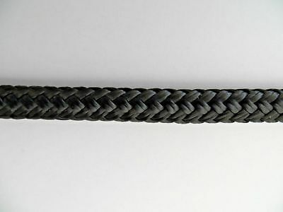 6MM Black Double Braid Polyester Per Metre -  Yacht Boat Marine 750kg Strength