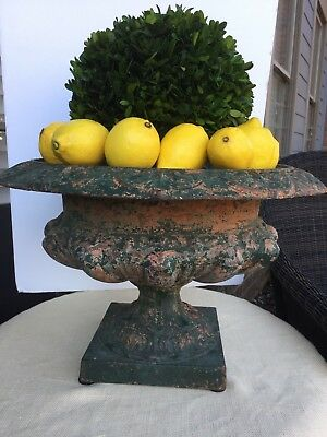 Antique French Cast Iron Planter Pot
