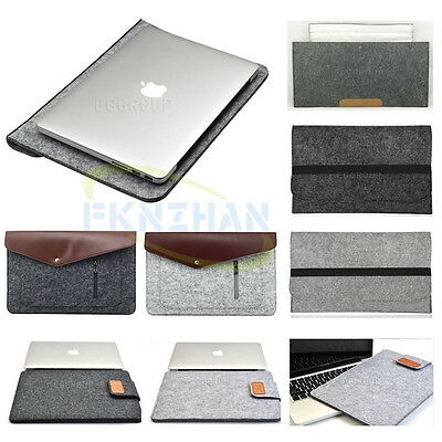 "Wool Felt Soft Envelope NoteBook Bag Sleeve Pouch Case Cover For 14"" inch Laptop"