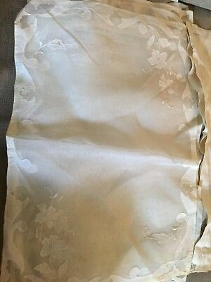 Antique Linen Napkins Set Of 12. 4 Of One Type And 8 Of Another.
