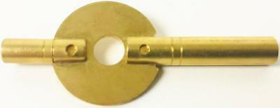 New Brass Double Ended Winding Key For Antique Carriage Clock 3.75mm x 1.95mm