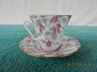 "Vintage Royal Grafton Bone China ""TEA CUP AND SAUCER"" Set ~ ASHLEY ~ # 5831"