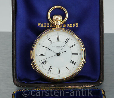 George Oram & Son very fine minute repeating pocket watch 1869