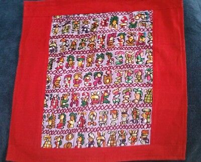 Handcrafted cotton Guatemalan woven upcycled to pillow cover case w/ zipper