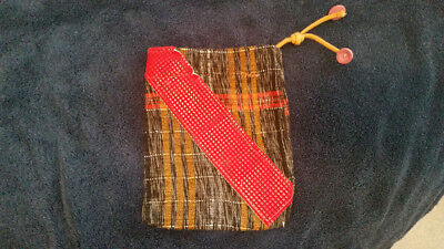 Guatemalan handmade textile drawstring pouch