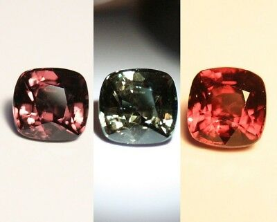 3.5ct Colour Change Garnet - Custom Cut Gem with Rare Superb Colour Change