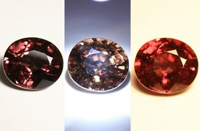 4.6ct Colour Change Garnet - Custom Cut Gem with Rare Superb Colour Change