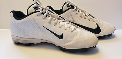 new arrival a3982 790dd Nike Vapor Keystone Low Baseball Cleats White W  Black Detailing Size 11