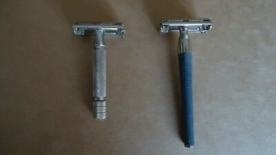 2 rasoirs Gillette papillon 1 made in England et 1 made in Germany