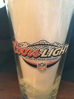 Coors Light NFL 16 oz Pint Beer Glass - Authentic Bar, Pub Item