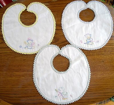 Vintage Embroidered Baby Bib ~ Ur CHOICE ~