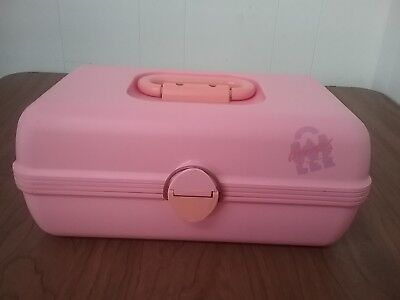Pink Caboodles Cosmetic Makeup Case Box with 2 sliding Trays