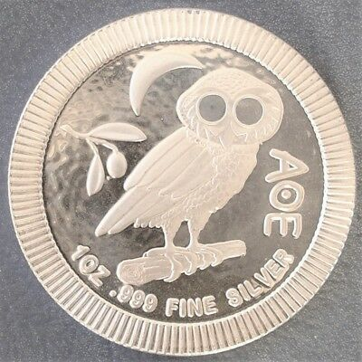 Mint Tube Of 20 2017 Niue Athenian Owl 1 oz One Ounce 99.9% Silver Bullion Coins