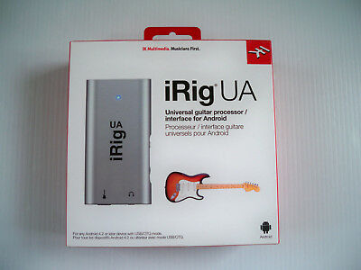 NEW iRig UA universal guitar processor interface for Android - Sealed