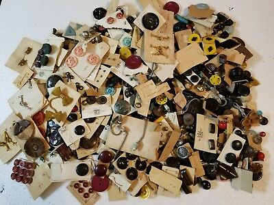 Lot Of Assorted Antique Vintage Buttons Very Old Four Pounds Loose