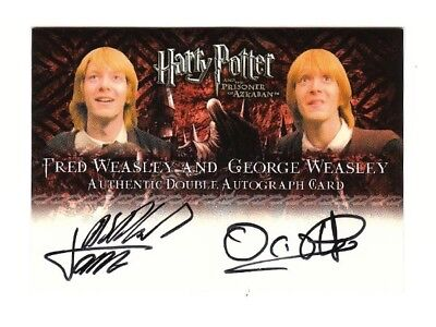 Harry Potter Double Autograph Card Fred & George - James & Oliver Phelps POA