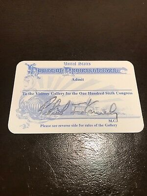 Us House of Representatives admission ticket