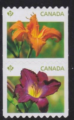 Canada 2012 - #2528ii Daylilies (Die-cut from coil)- MNH