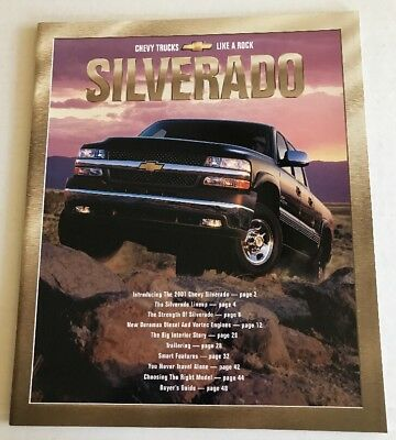 Original 2001 Chevrolet Truck Silverado Deluxe Sales Brochure 01 Chevy 51 pages