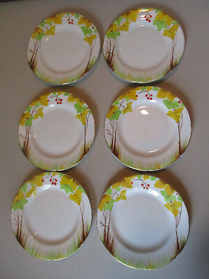 6 Vintage Royal Grafton English Bone China HandPainted Woodland Bread Cake Plate