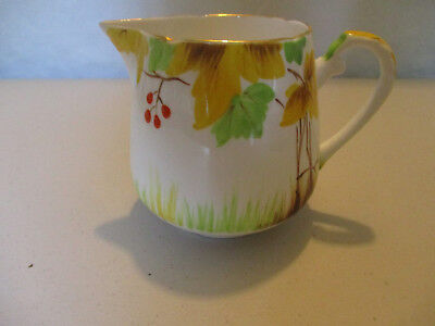 Vintage Royal Grafton English Bone China HandPainted Enamel Woodland Creamer Jug