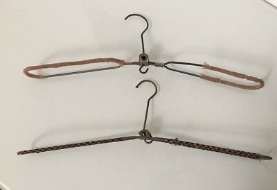 Two Vintage Foldaway Travel Clothes Hangers