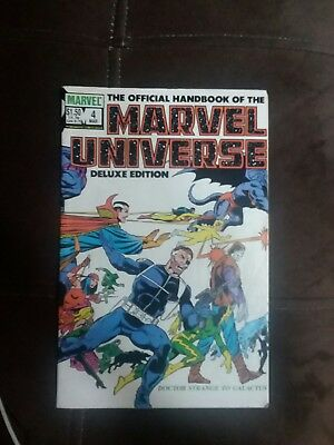 The Official Handbook Of The Marvel Universe Numbers 4,5,6,7,8 and 15