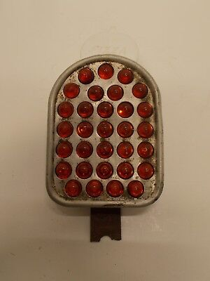 Vintage Glass Red Marble Plate Topper Reflector for Motorcycle