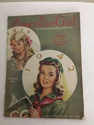 Vintage Girl Scouts American Girl Magazine 25th Anniversary October 1942 NICE!