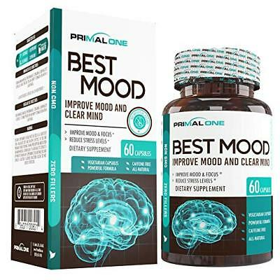 BEST MOOD Nootropic Mood Booster & Stress Relief Supplement~Calm Anxiety~SHP FST
