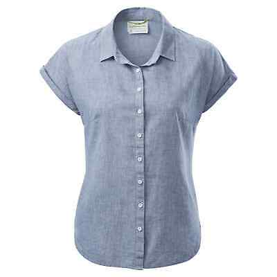 Kathmandu Flaxton Womens Organic Cotton Hemp Regular Fit Short Sleeve Shirt