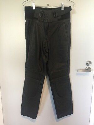 Authentic Rivet Motorcycle Motor Bike Leather Pants Size 14