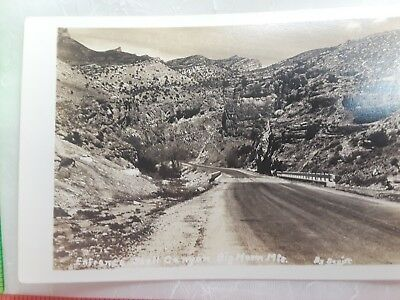Vintage Real Photo EKC Postcard Shell Canyon Big Horn Mountains Hwy 14 RPPC WY