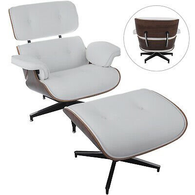Lounge Chair and Ottoman Mid Century Recliner Armchair W/ Footrest Classic Style
