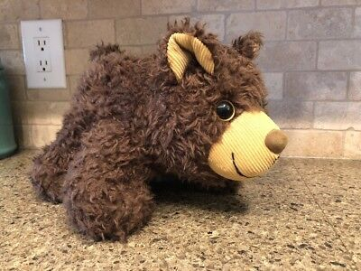 Brown Fuzzy Bear Medium Bank