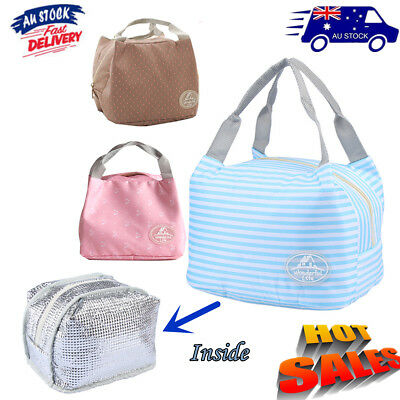 Portable Insulated Cooler Bag Thermal Food Tote Storage Organization Au Post
