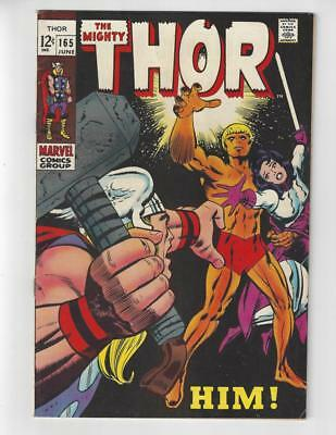 The Mighty Thor #165/Silver Age Marvel Comic Book/1st Full Warlock/VF-