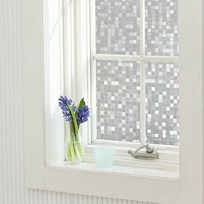 Privacy Window Film Decorative Static Cling Non-Adhesive UV Blocking Glass Films