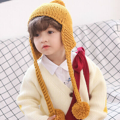 Infant Baby Girl Boy Kids Winter Pompom Ball Knit Woolen Hat Cap Beanie Bonnet
