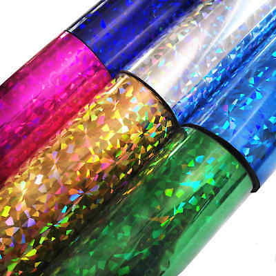 Hot Foil Gitter Broken Glass Heat Stamping Blocking Foil Embossing Crafts Roll