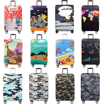 """Elastic Travel Suitcase Cover Anti Scratch Luggage Protector Dustproof 18"""" ~ 32"""""""
