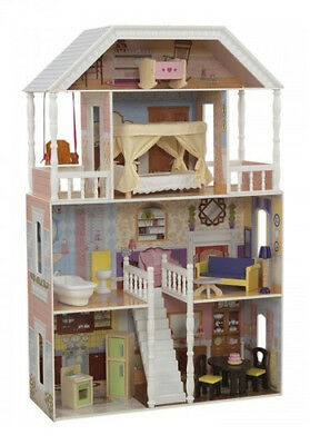 Barbie Size Dollhouse Furniture Girls Playhouse Dream Play Wooden